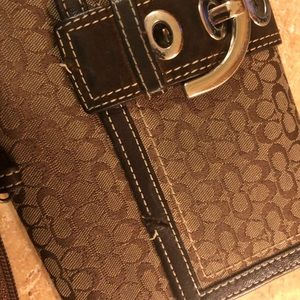 Coach wallet checkbook  and change purse some flaw